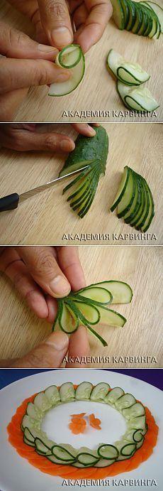 Академия карвинга. Резьба по огурцам. Урок #1 » BonAppetit.com.ua - Коллекция кулинарных рецептов с фотографиями и советами по приготовлению