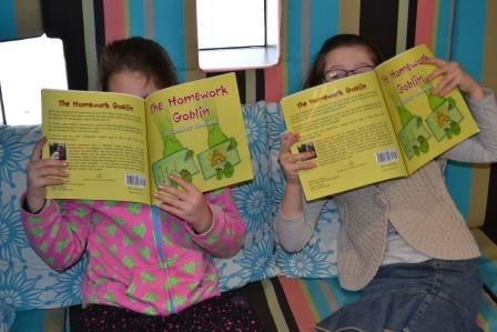The kids enjoyed reading the book
