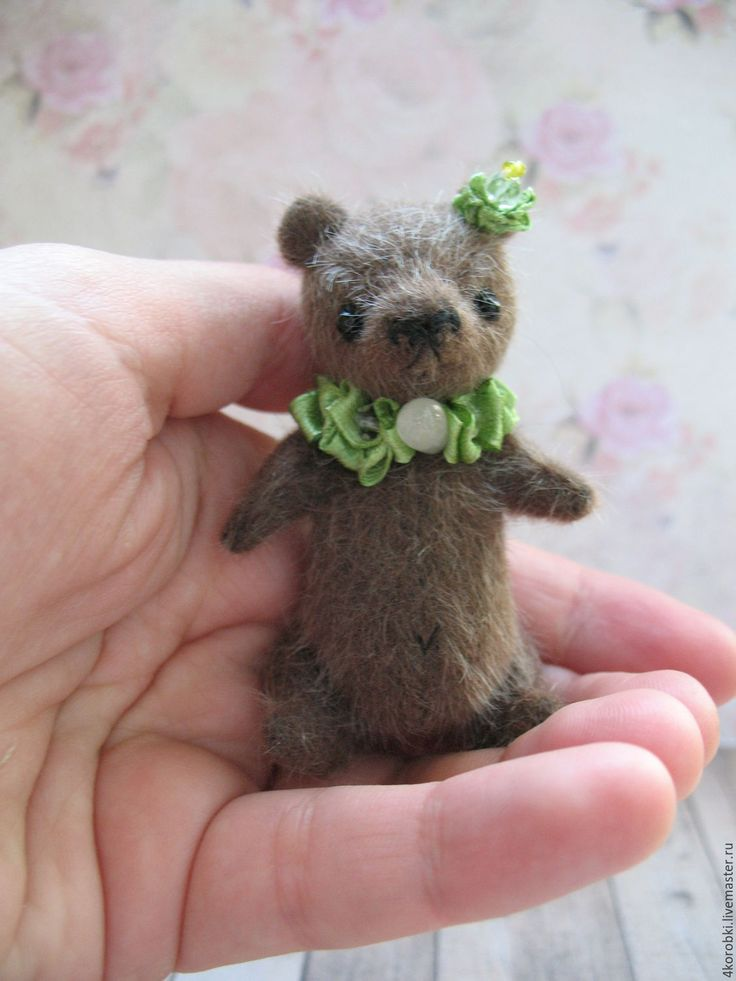 Купить Пом-Пом - коричневый, бурый, бурый мишка, миник, миниатюра, минитедди, мишка миник