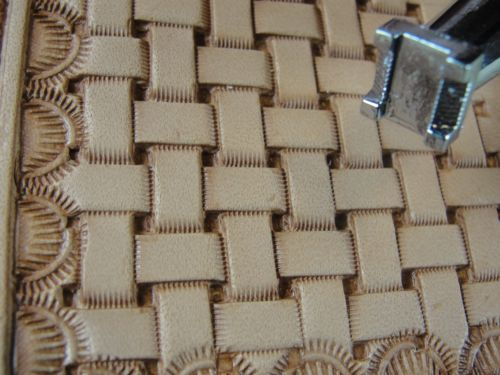 Carving A Basket Weave Pattern On A Gunstock : Best images about leather on