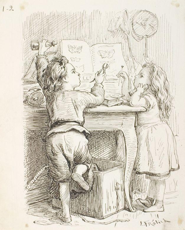 Little girl spanking her doll's botty   Lorenz Frølich   1868   Statens Museum for Kunst   CC0