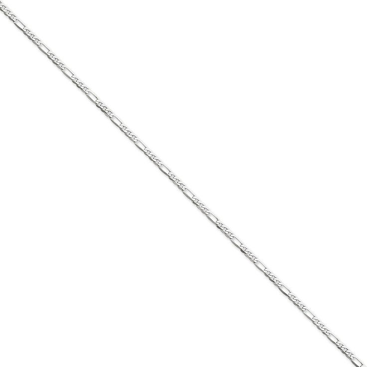14k White Gold 2.75mm Flat Figaro Chain Anklet 9 Inches Long *** Be sure to check out this awesome product. (This is an Amazon Affiliate link and I receive a commission for the sales)
