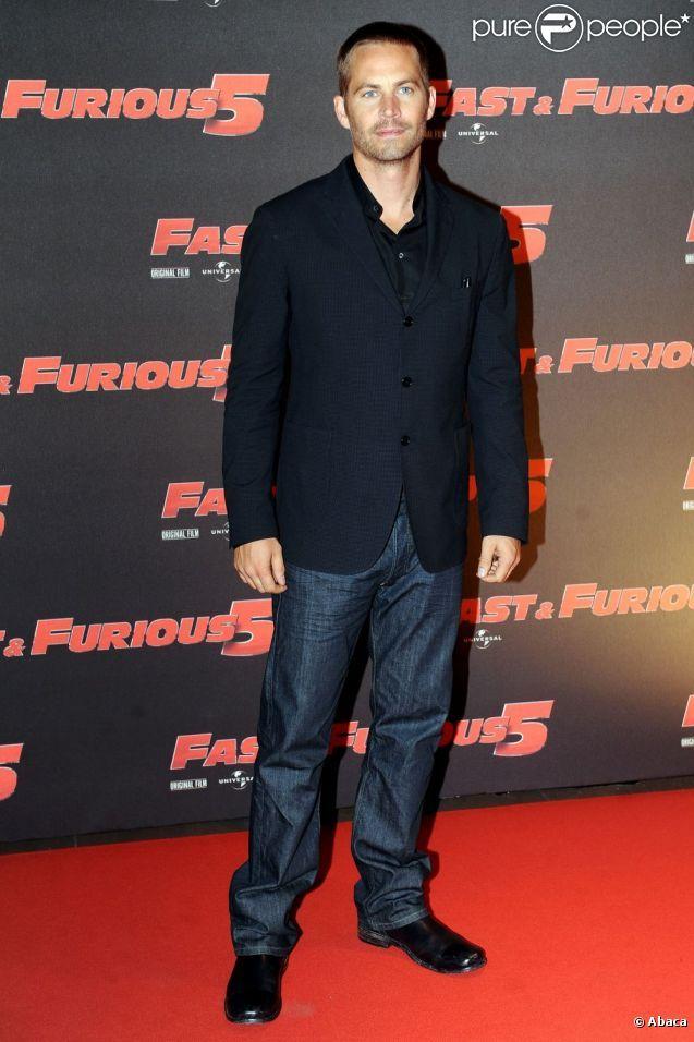 Paul Walker assiste, vendredi 29 avril, à l'avant-première italienne de  Fast and Furious 5 , à Rome.