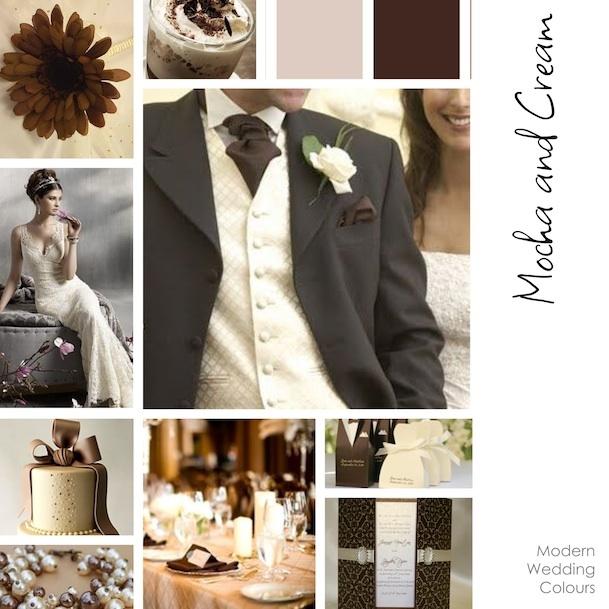 Modern Wedding Colours Mocha And Cream