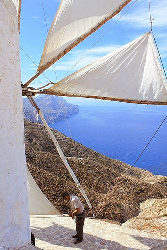 More than 100 windmills in Karpathos Island...