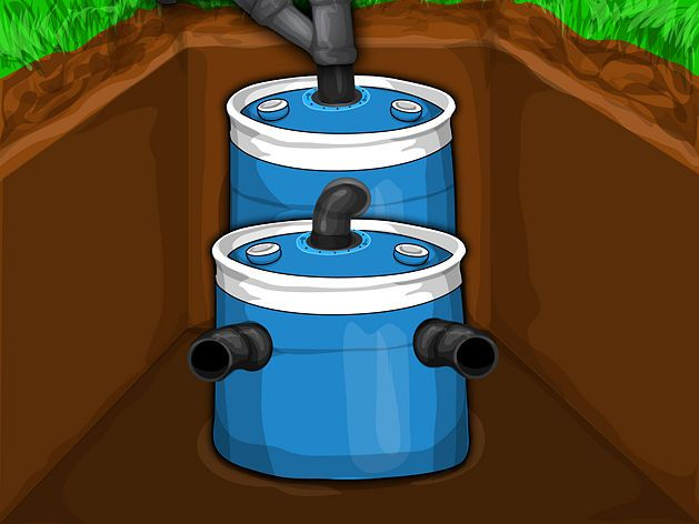 Small Emergency DIY Septic System.....Perfect for off-the-grid living and bug-out locations