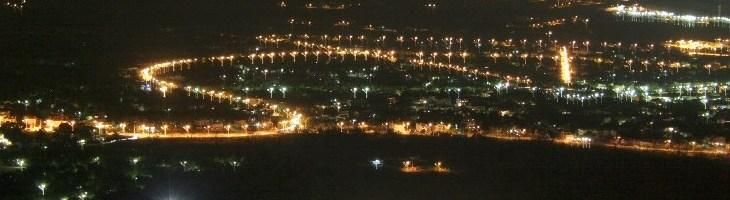 Night view from Mount Parnes!