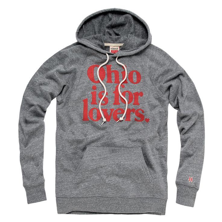 HOMAGE Ohio Is For Lovers Hayes Hoodie Fleece Sweatshirt - $65.00