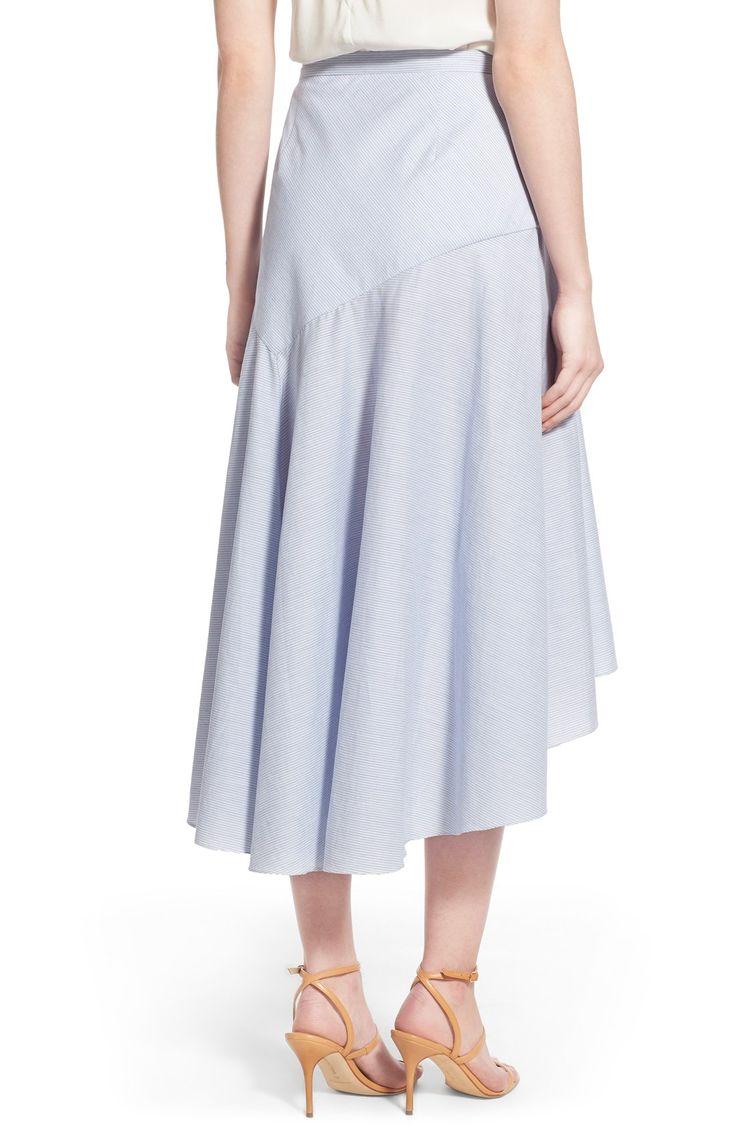 Olivia Palermo + Chelsea28 Drape Poplin Midi Skirt