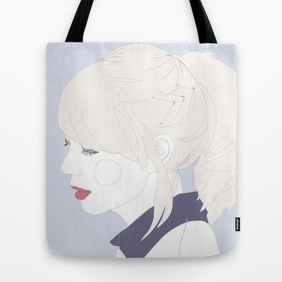 Chevrons and collars. Tote Bag by Footeprints - $22.00
