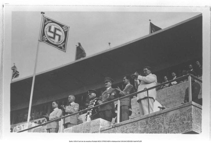Rudolf Hess, Julius Streicher, Field Marshall von Mackensen, Hitler, Goebbels, & Goering