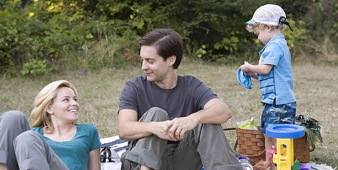 THE DETAILS Review (Three and a half stars). Tobey Maguire is middle-age crazy but his co-stars stumble