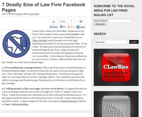 Waarom juristen iets met social media moeten.