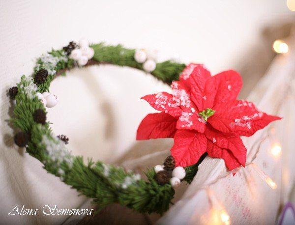 Новогодний венок из фоамирана