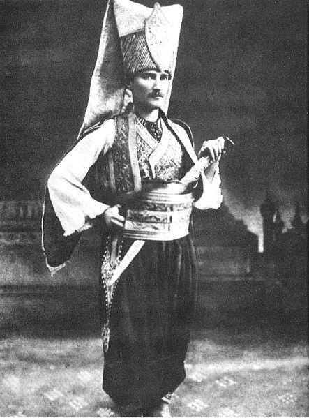 Mustafa Kemal Ataturk in Janissary Uniform.