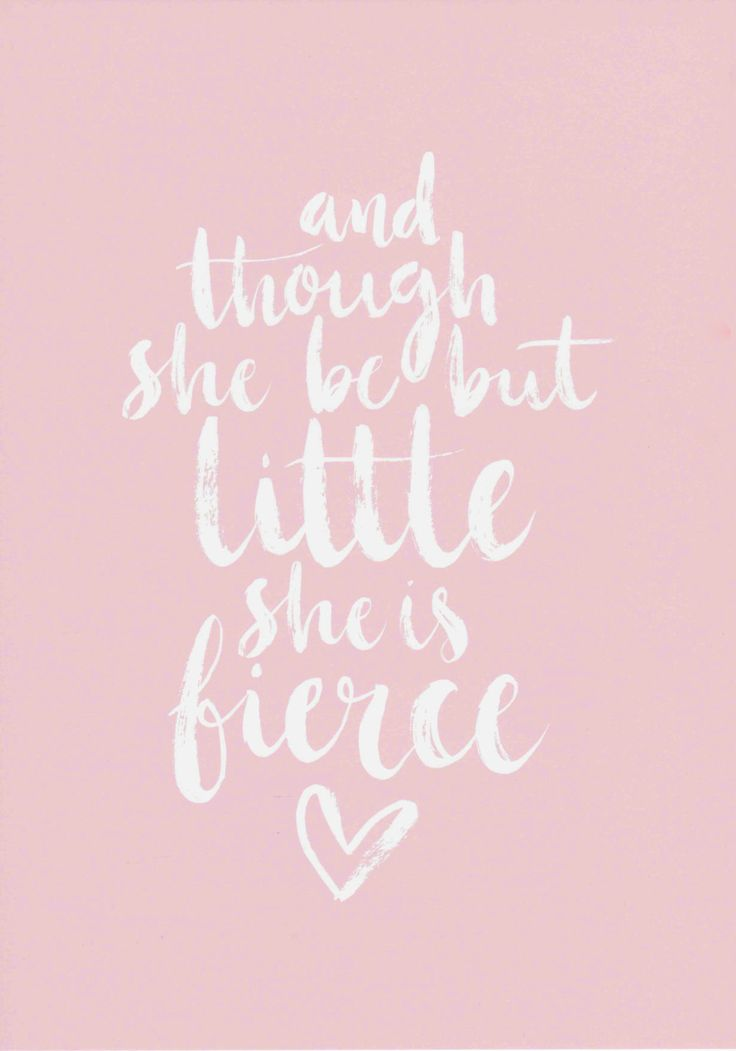 Though She Be But Little Baby Girl Nursery Wall Art Gift