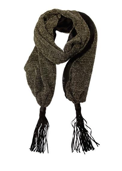 TOUCH - Tasselled metallic foulard
