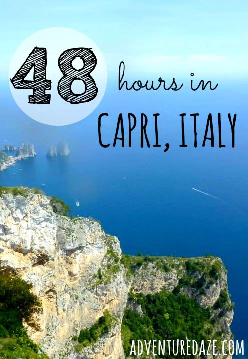 Click here for the perfect 2-day itinerary for Capri, Italy!