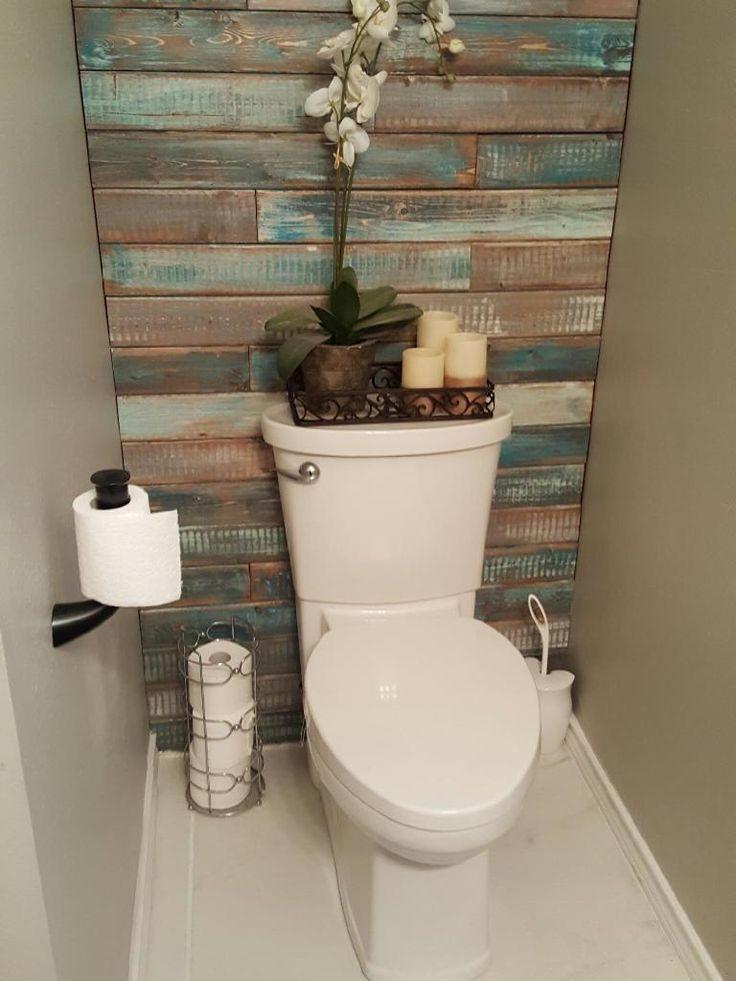 akzentwand  barn wood decor bathroom accent wall