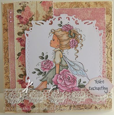 Shari M. has Rosetta from Whimsy on the blog.  More details on the blog.