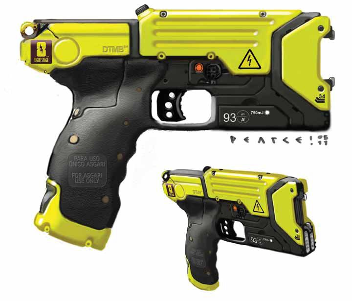 Electric Gun - An electric shock could destabilize sensors or ... F(x) Electric Shock