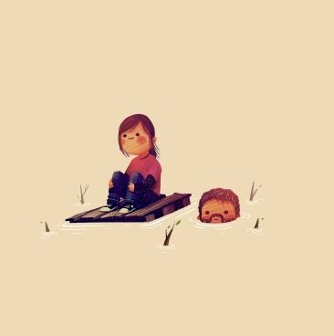 The Last of Us-Haha, despite the fact that this game isn't supposed to be funny, this picture made it funny. Cute. I like it.