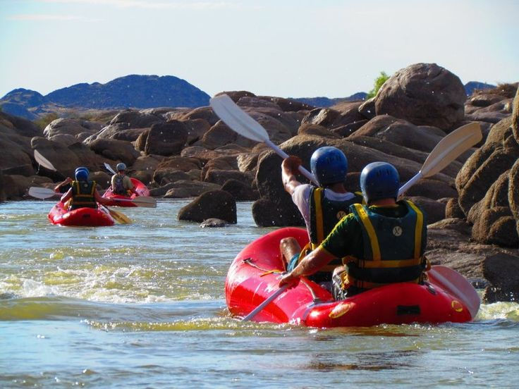 River rafting on the orange river