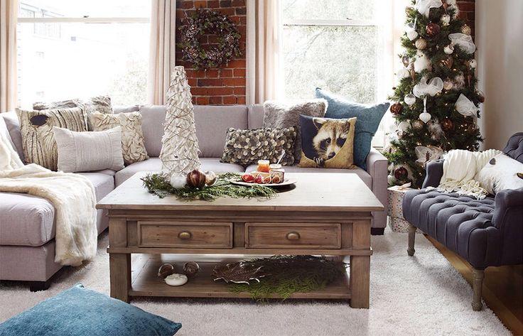 Cozy living room from Urban Barn