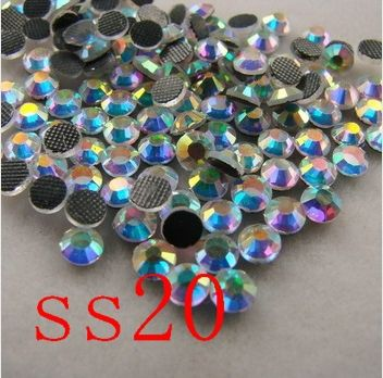 Crystal AB  SS20 DMC HotFix FlatBack Rhinestones crystal hot fix stone Iron On Rhinestones garment sewing stones-in Rhinestones from Home & Garden on Aliexpress.com | Alibaba Group
