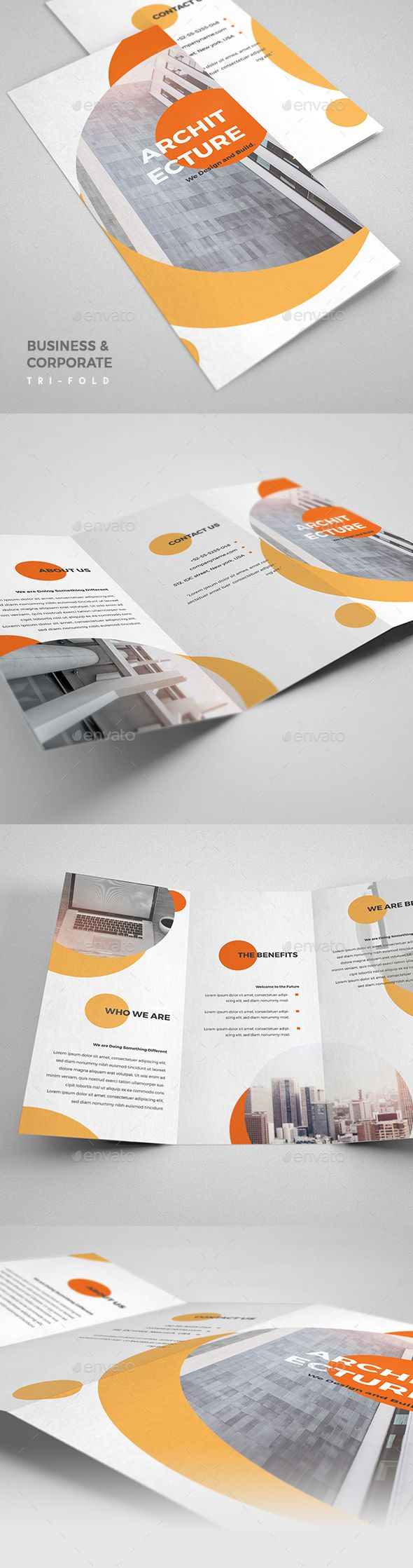 Architecture Design Tri-Fold Brochure