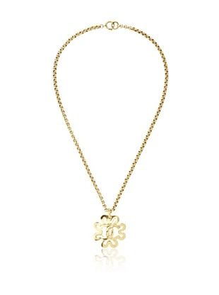 CHANEL Long Chain with Flower Pendant