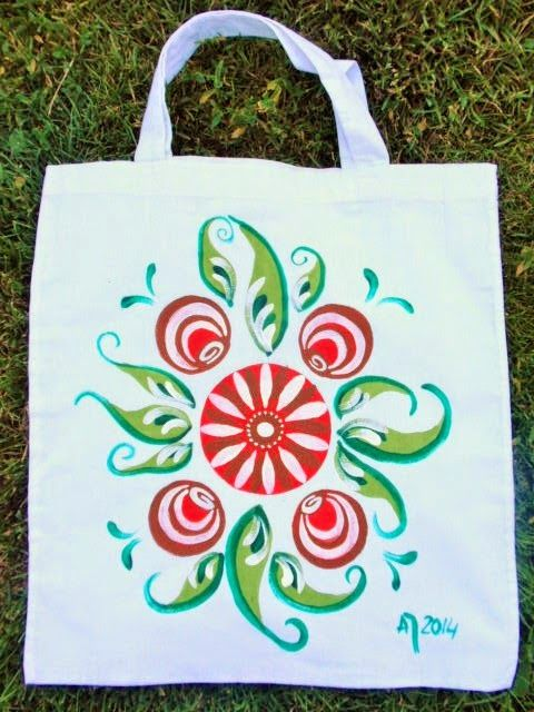 Hand painted bag