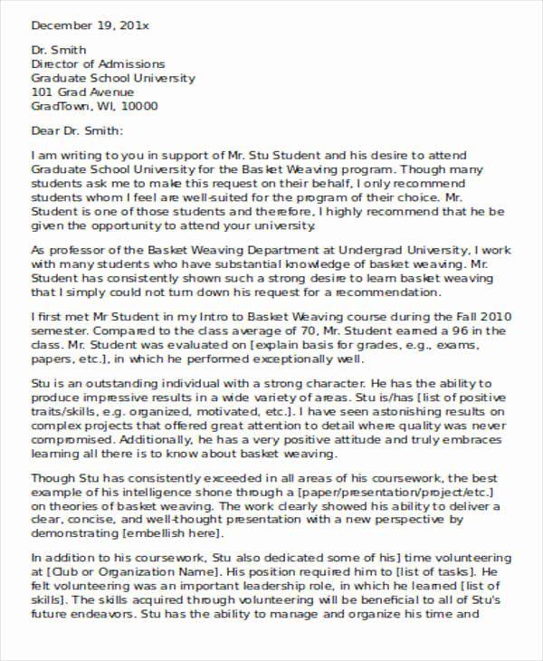 Phd Letter Of Recommendation Unique 40 Re Mendation Letter Format Templates In 2020 Letter Of Recommendation Lettering School Counselor Lesson Plans