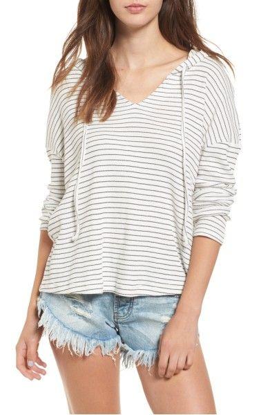 Main Image - Roxy Lovely Aside Stripe Pullover