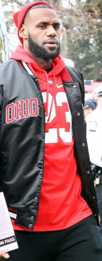 LeBron James @ THE Ohio State University Football Game