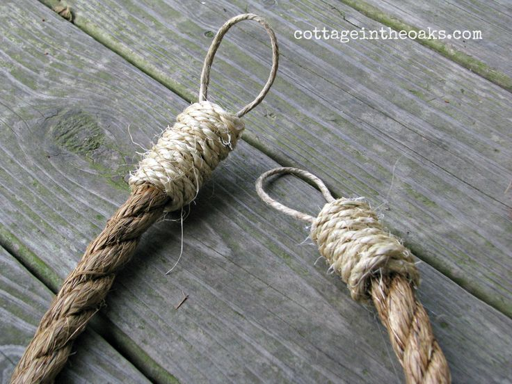 DIY Rope Curtain Tie Backs for a rustic nautical look.