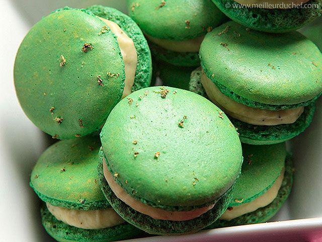 Macaron chocolat blanc thé vert Matcha (Meilleur du Chef)