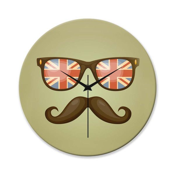 BigOwl | Hipster Moustache Wall Clock Online India at PosterGuy.in