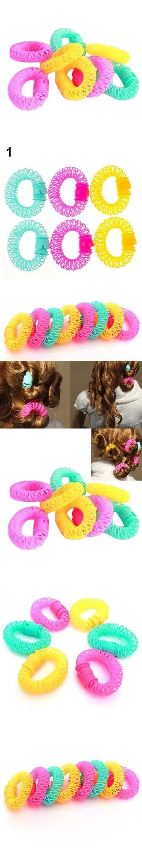6/8Pcs Convenient Hair Magic Curler Rollers Spiral Curls Hair Styling DIY Tools AVHZ