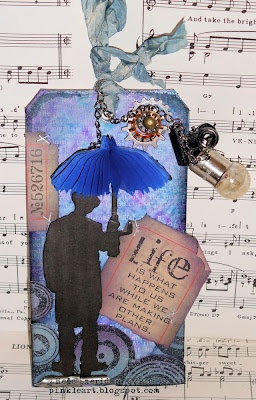 Awesome :DReal, Holtz Tags, Fingers, Blue Training, Cloudy Blue, Tags Tags, Alcohol Inks, Cards Tags, Crafts Inspiration