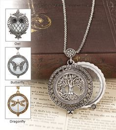 New for Spring - Tree of Life Magnifier Pendant, also in Owl, Butterfly, or Dragonfly!