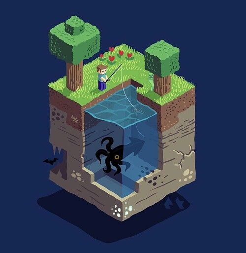 Isometric fishing for squid