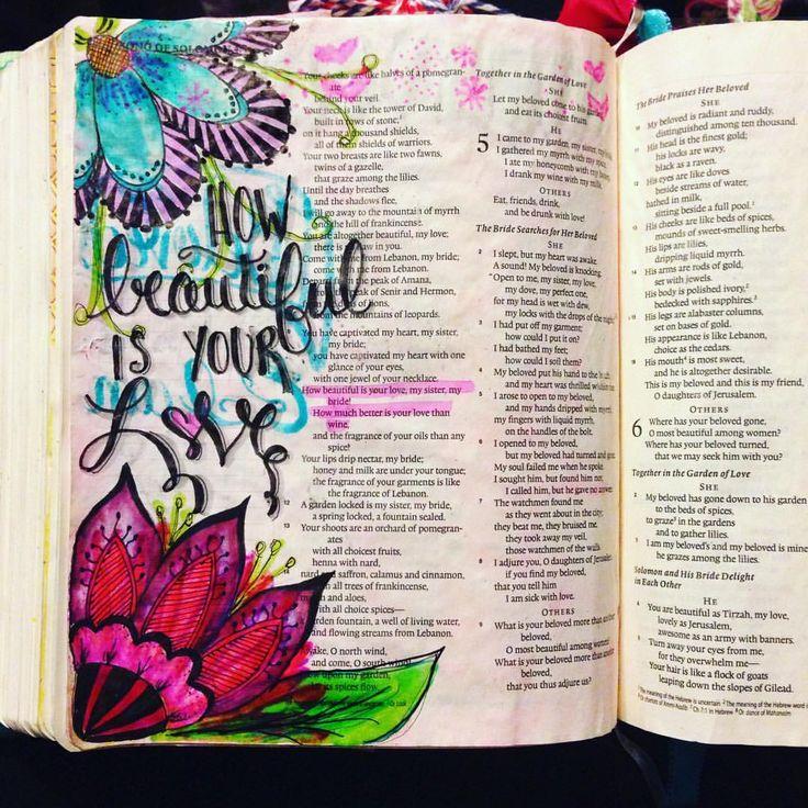 Song of Solomon, bible journaling, illustrated faith, illuminated journaling