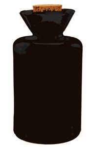 "Black Funnel Reed Diffuser Bottle . $4.95. Black Funnel Reed Diffuser Bottle, 4 3/8"" tall, 2 3/4"" diameter, 7/8"" opening. 5 oz. Brilliant Recycled European Glass."