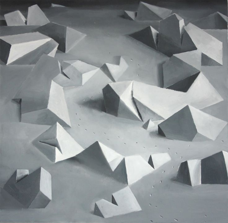 Seria zimowa III, 2010, olej, 40x40 cm, autor Bartek Buczek