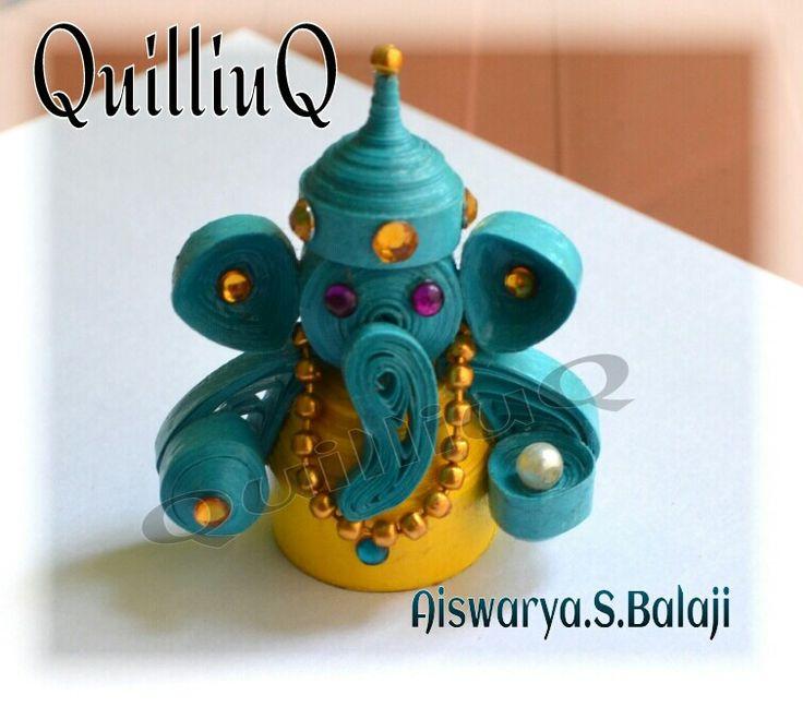 3D Quilled Ganesha