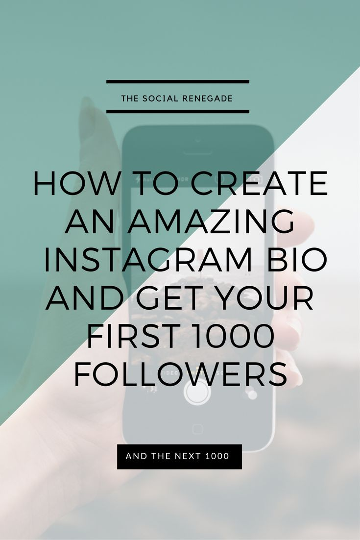 how to make your instagram bio cool