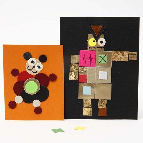 13234 Tavlor av pappmosaik på kartong från Color Bar