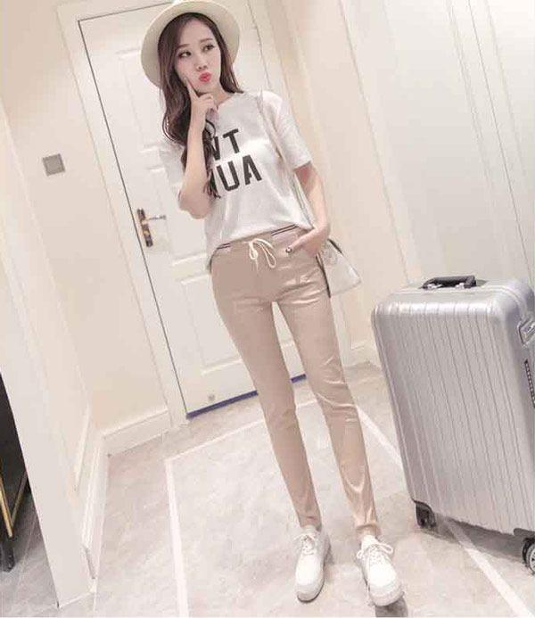 Fashion Celana Panjang Wanita Import Bahan Katun Stretch B2881