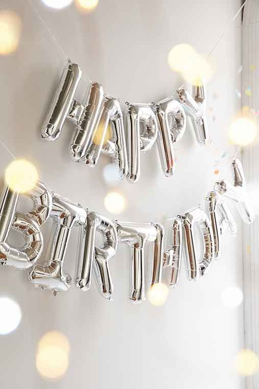 Happy Birthday Metallic Party Balloon Kit